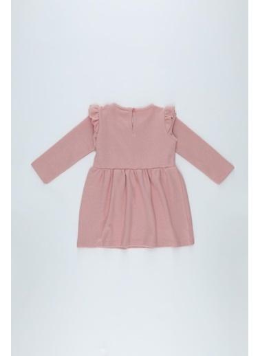 DeFacto Kız Bebek Baskılı Selanik Kumaş Elbise Bordo